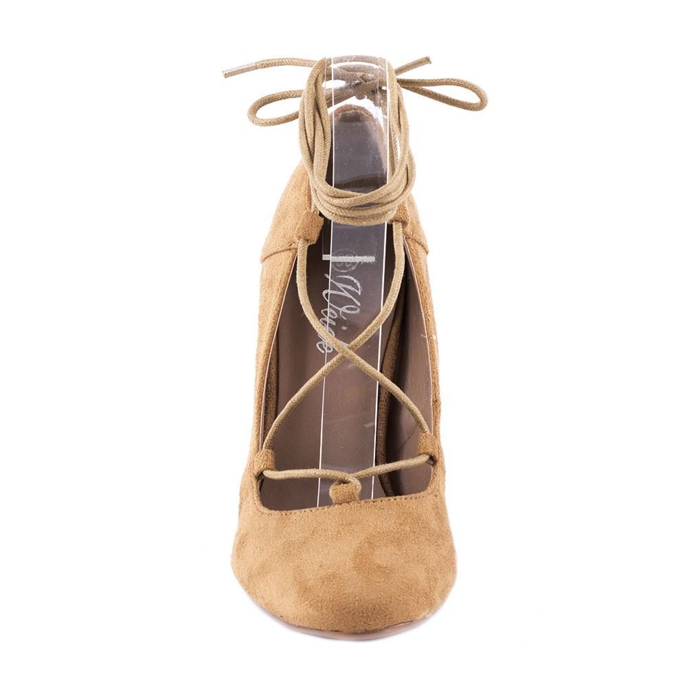 Pantofi dama cu toc XQ-98901-CAMEL