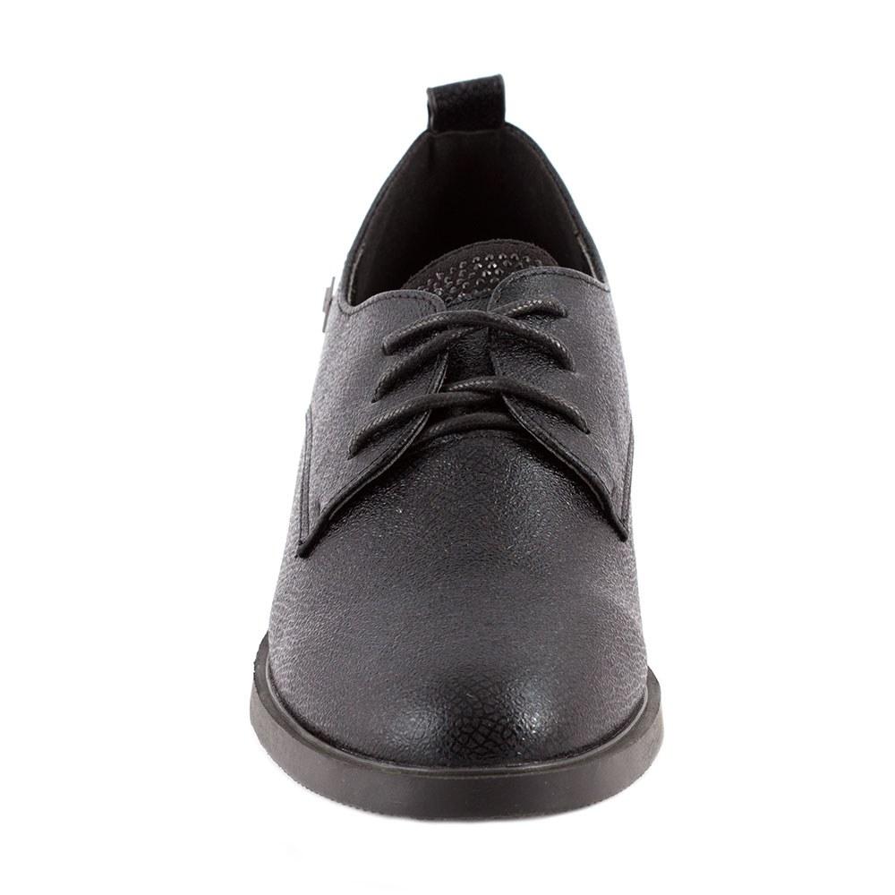 Pantofi dama casual cu siret L-1-NEGRU