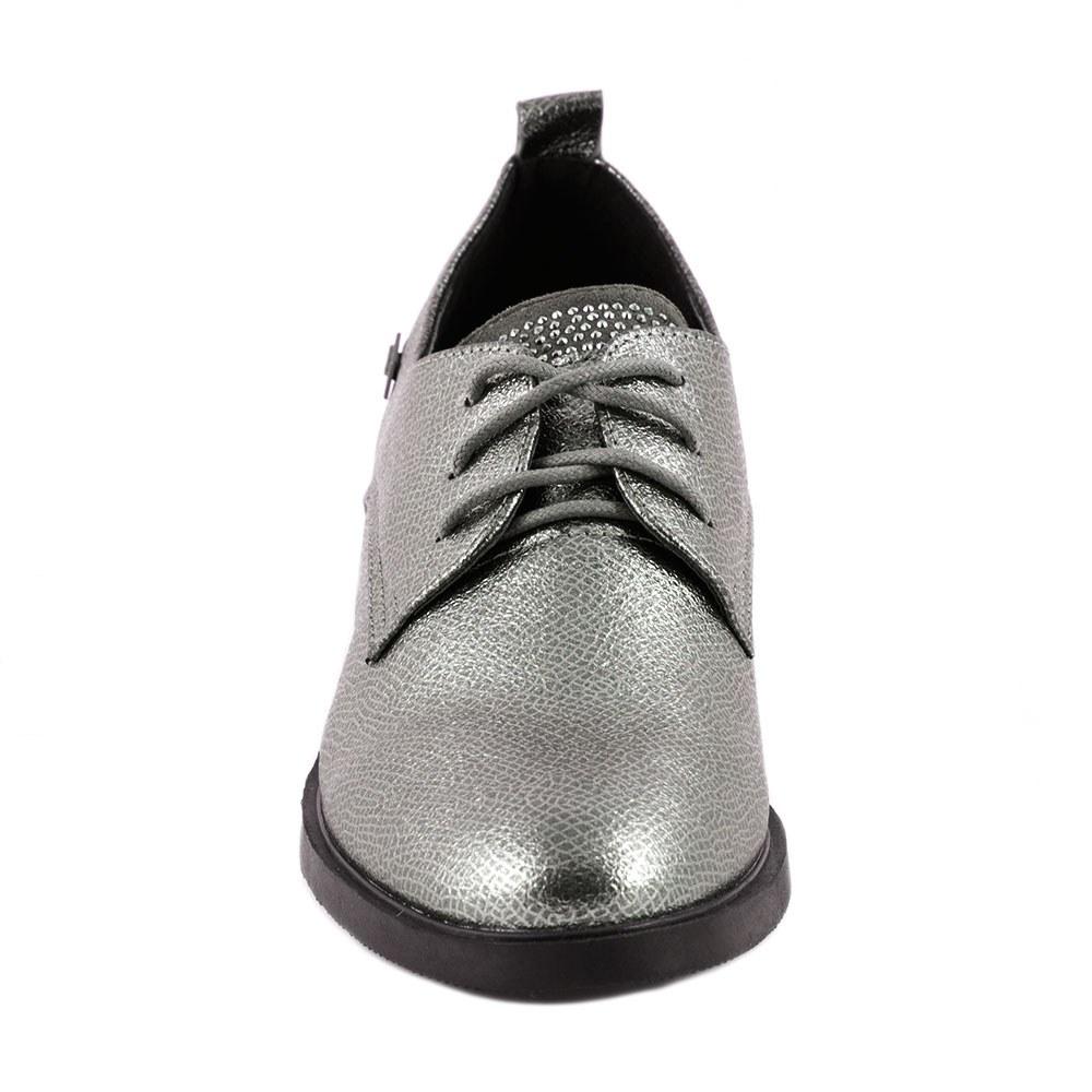 Pantofi dama casual cu siret L-1-PEWTER
