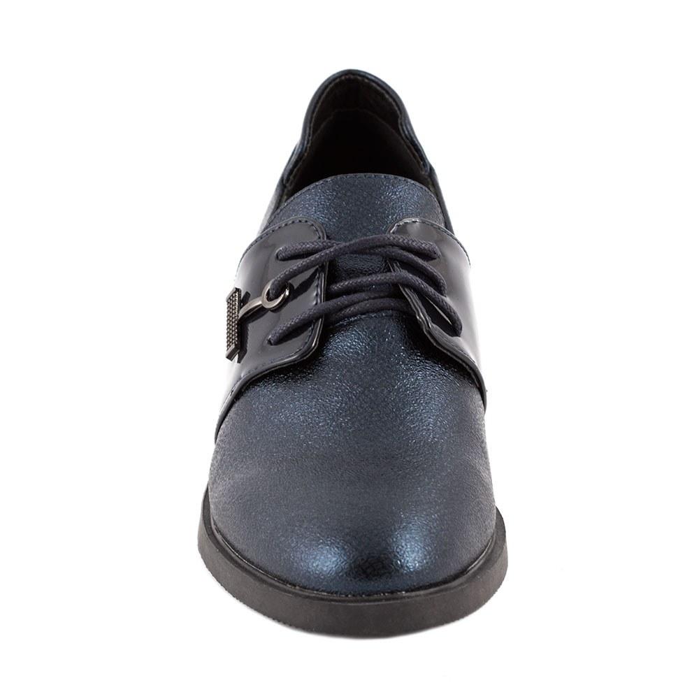 Pantofi de dama comozi cu siret L-5-DK.BLUE