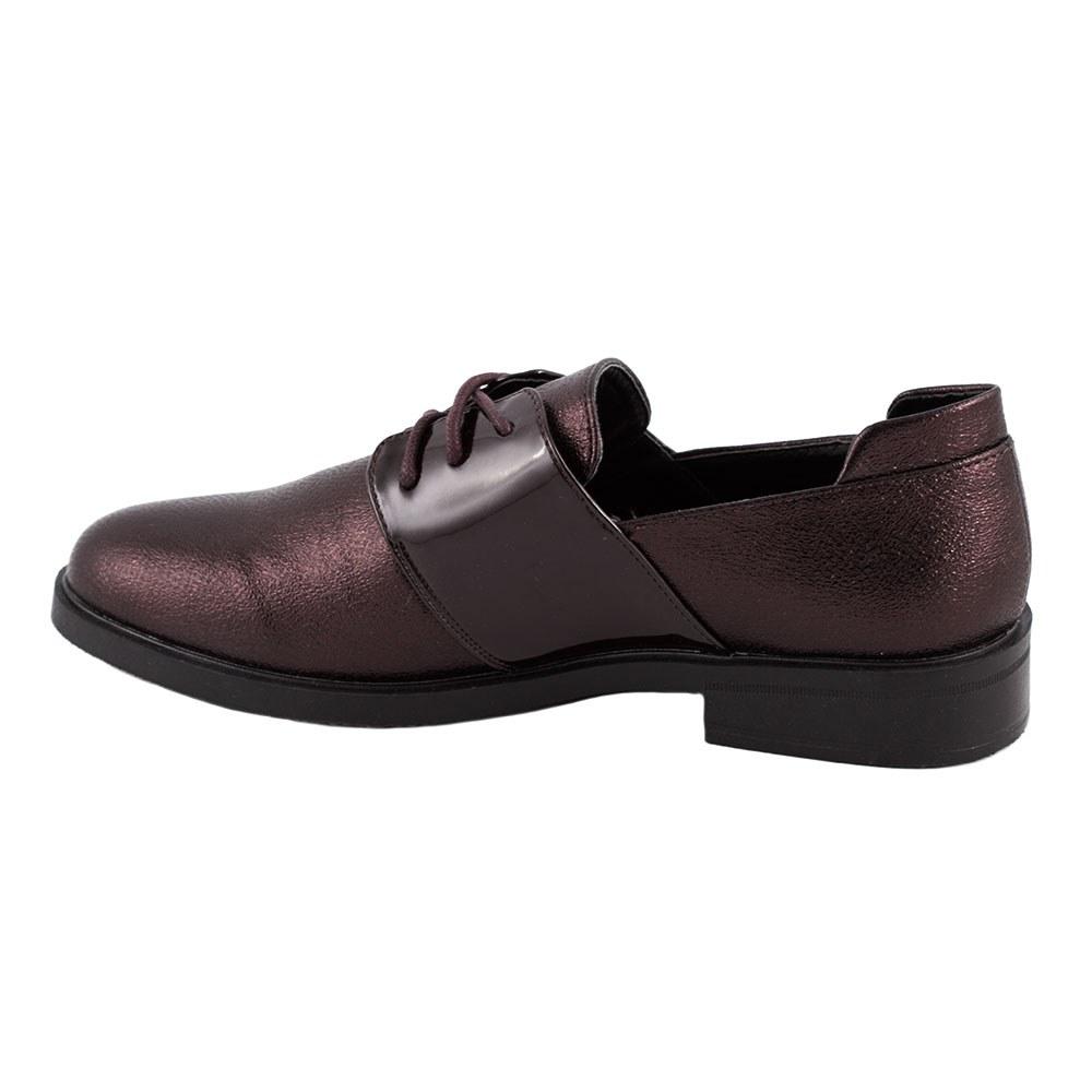 Pantofi de dama comozi cu siret L-5-WINE