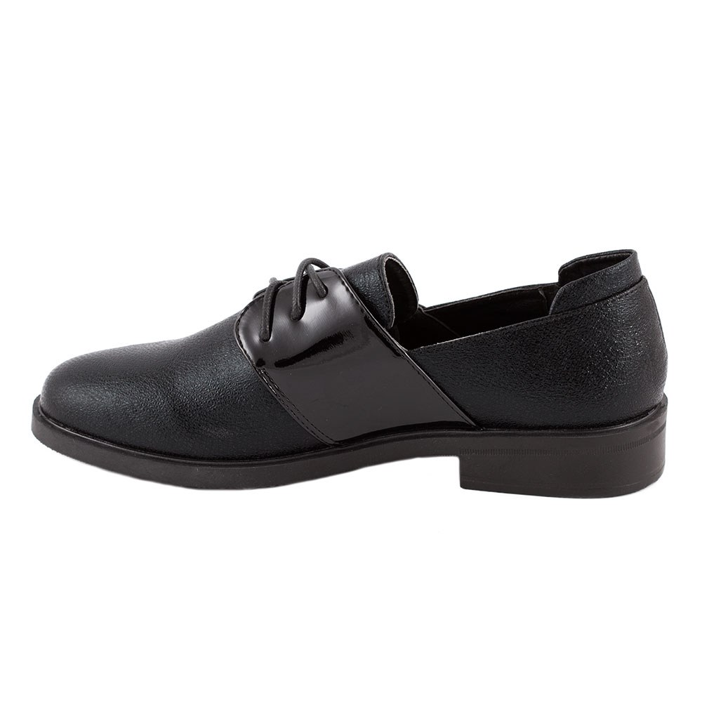 Pantofi de dama comozi cu siret L-5-NEGRU