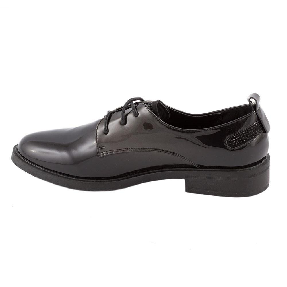 Pantofi dama lacuiti L-2-NEGRU