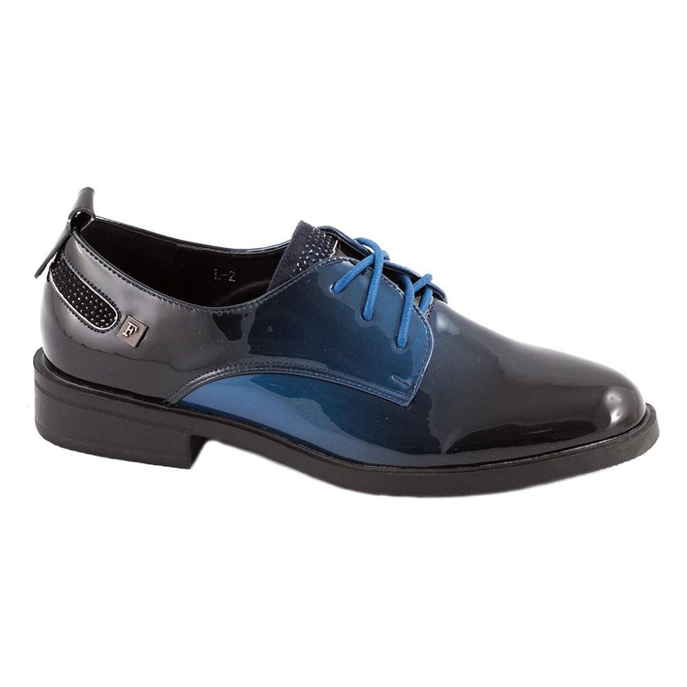 Pantofi dama lacuiti L-2-DK.BLUE