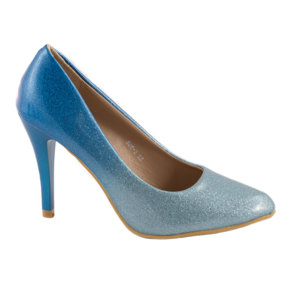 Pantofi de dama eleganti 606-3-BLUE