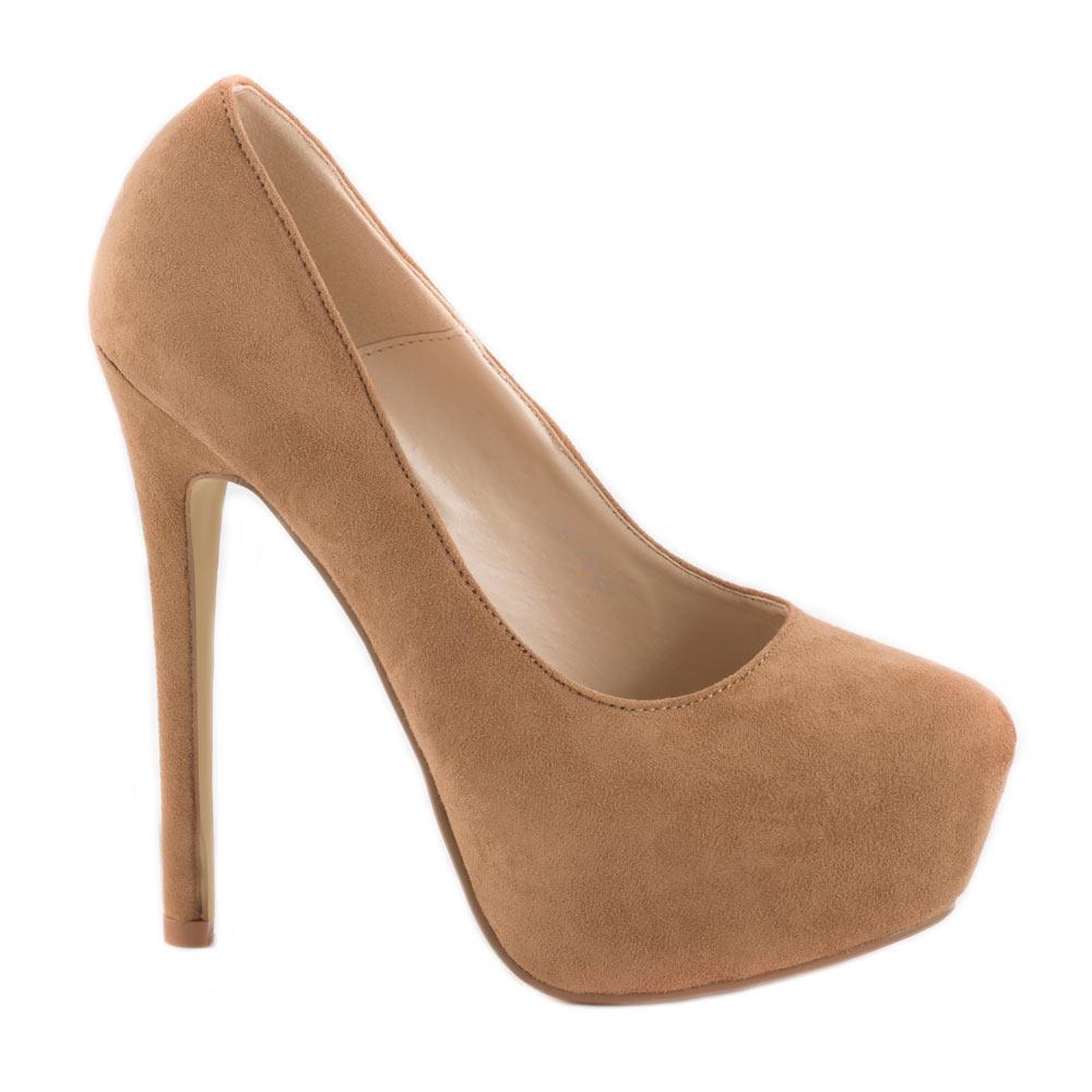 Pantofi de dama cu platforma EK73-CAMEL