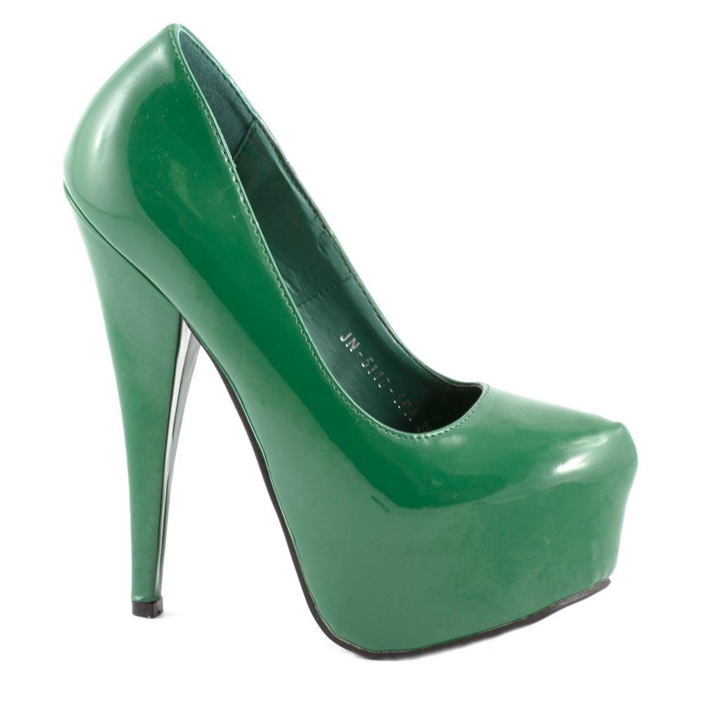 Pantofi dama cu platforma JN-5140-1FA-VERDE