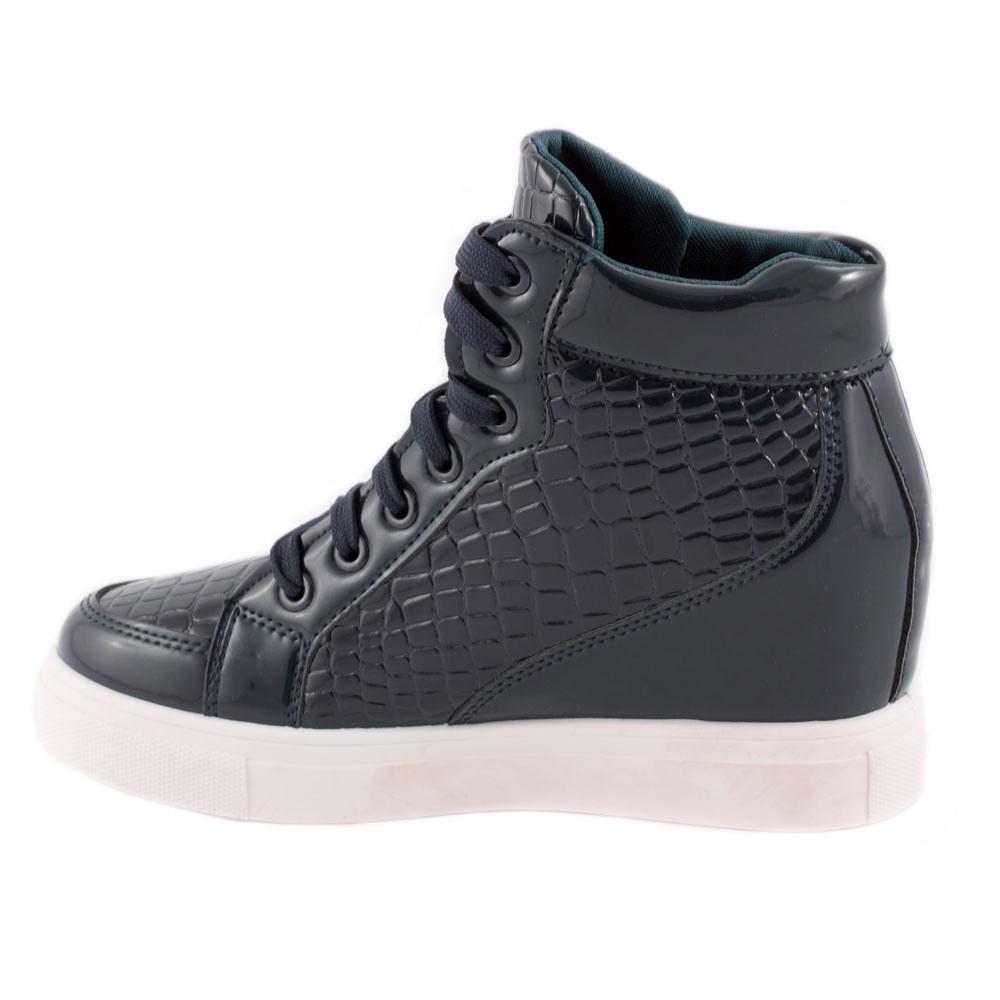 Sneakers de dama cu siret S-98-BLUE