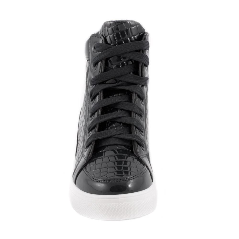 Sneakers de dama cu siret S-98-NEGRU