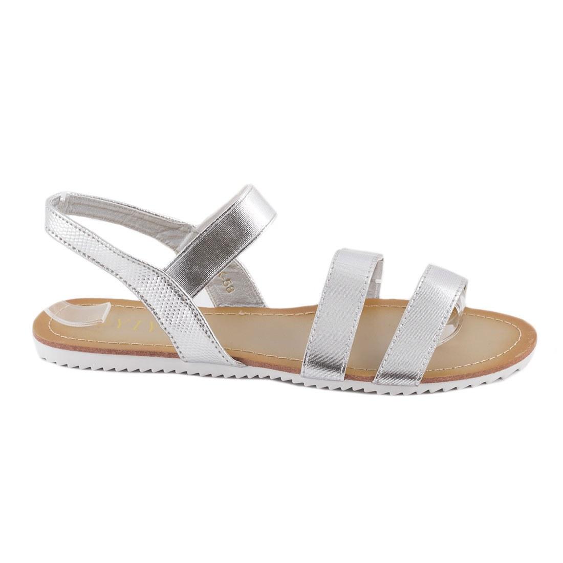 Sandale dama cu talpa joasa K-58-SILVER