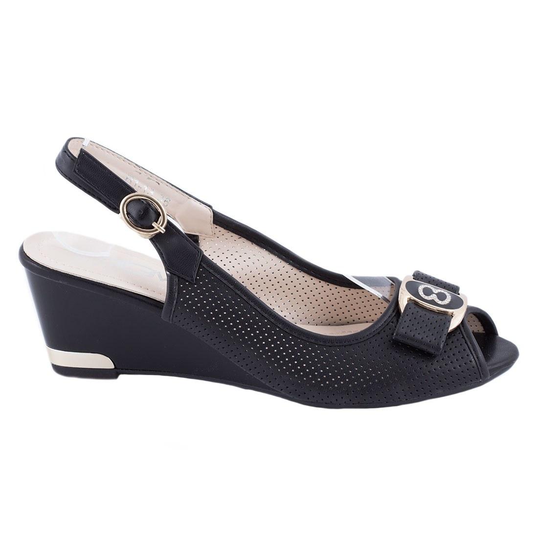 Sandale de dama cu talpa ortopedica B1-13-NEGRU