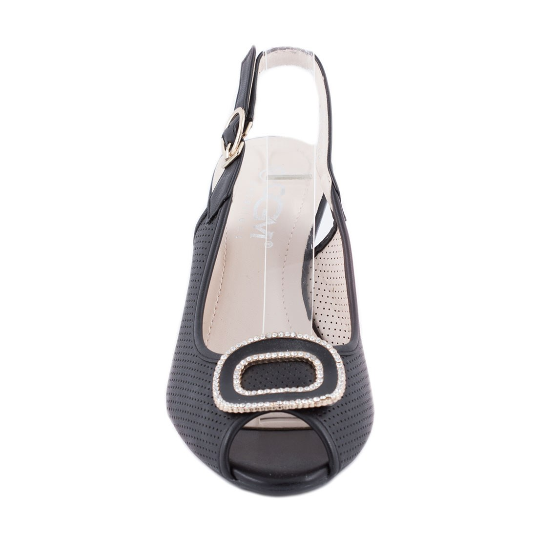 Sandale de dama cu talpa ortopedica B1-35-NEGRU