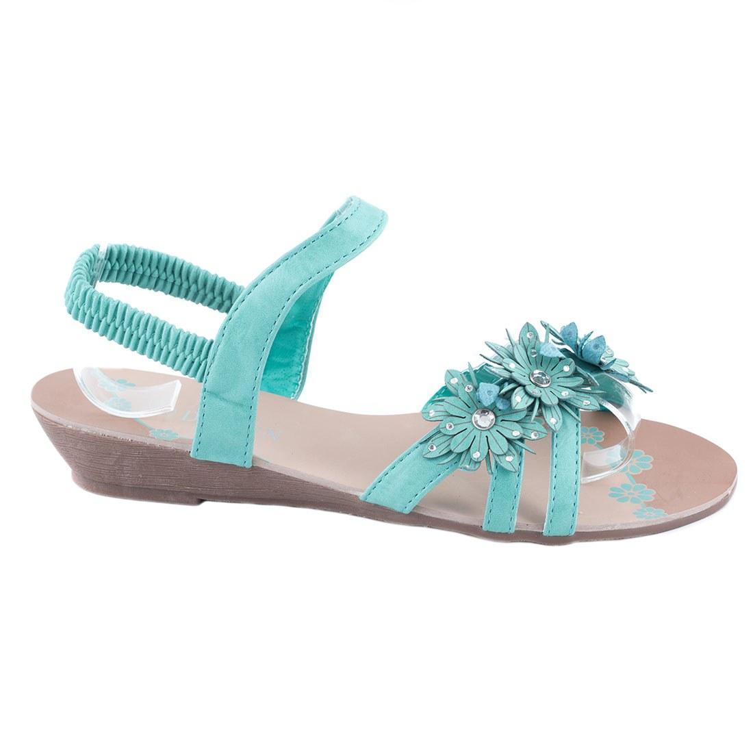 Sandale dama cu talpa joasa TP-02-LT-BLUE la 29,99Lei
