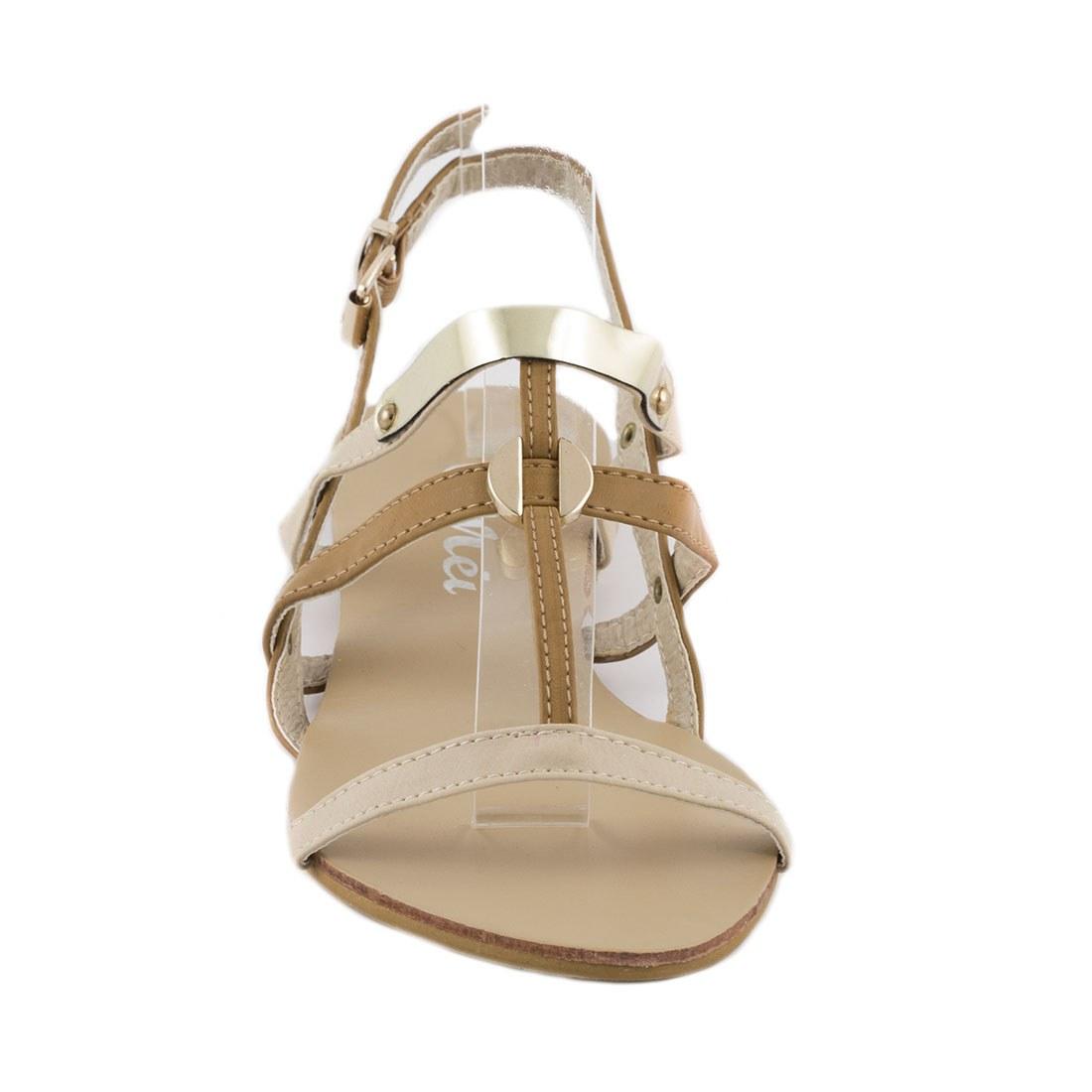 Sandale dama cu barete OL-HG133-APRICOT