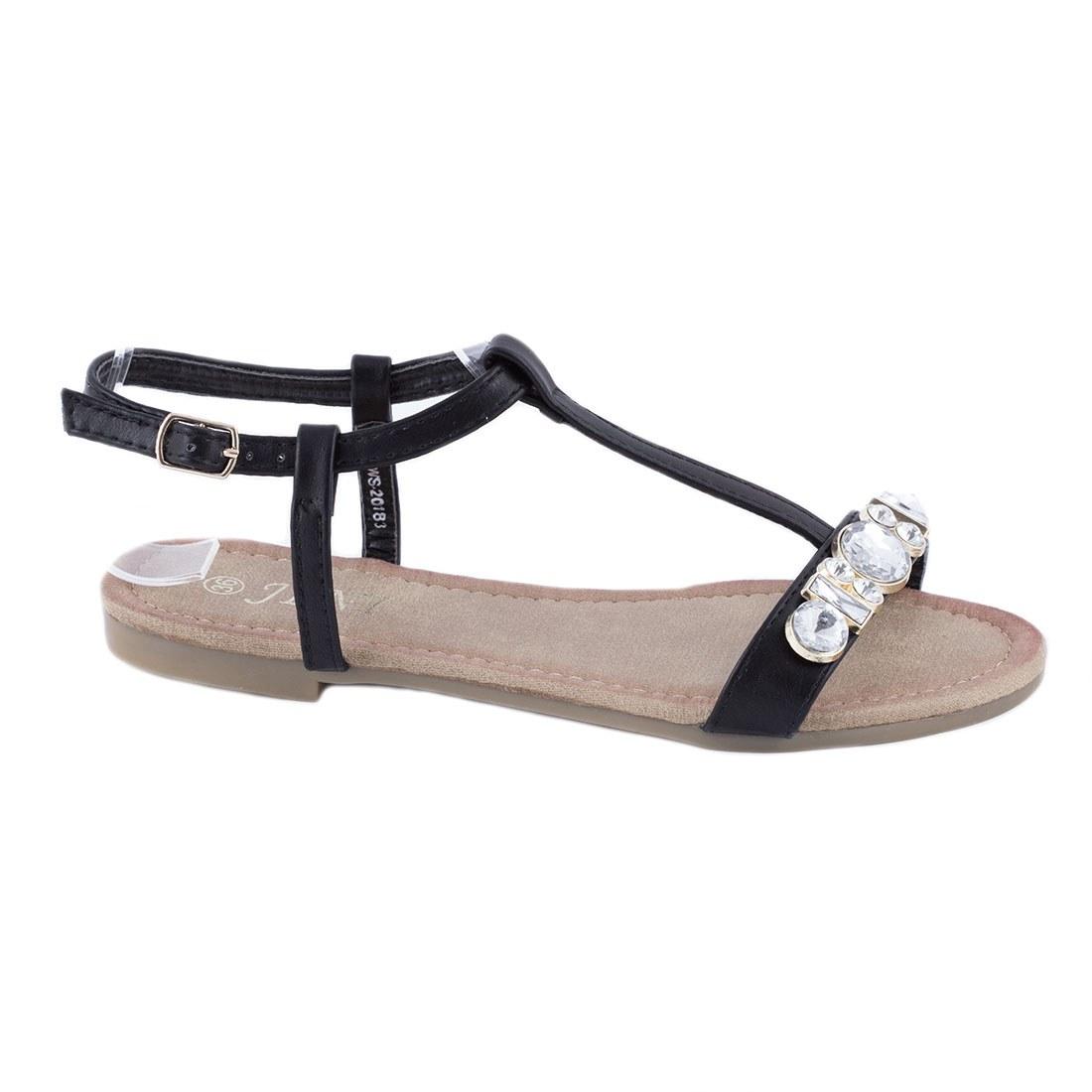 Sandale de dama cu pietre WS-20183-NEGRU