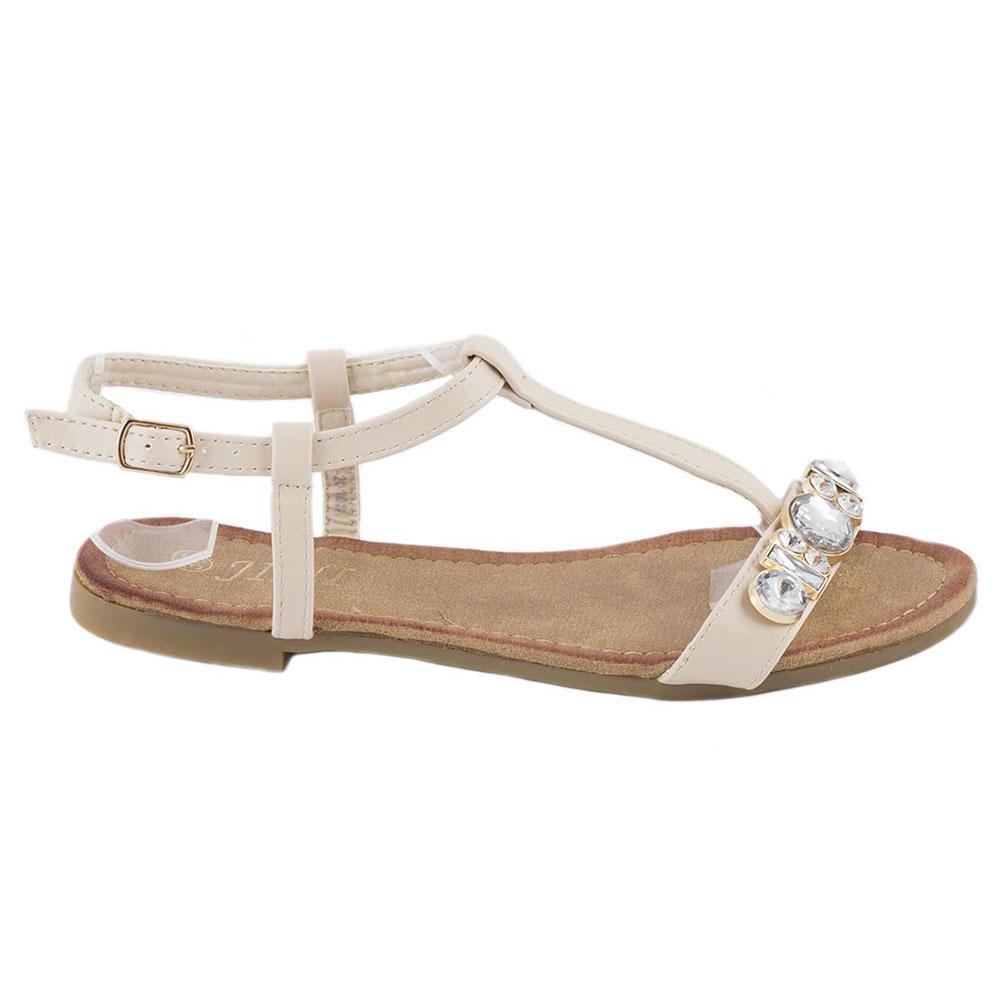 Sandale de dama cu pietre WS-20183-BEJ