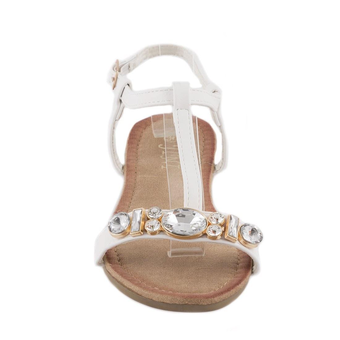 Sandale de dama cu pietre WS-20183-ALB