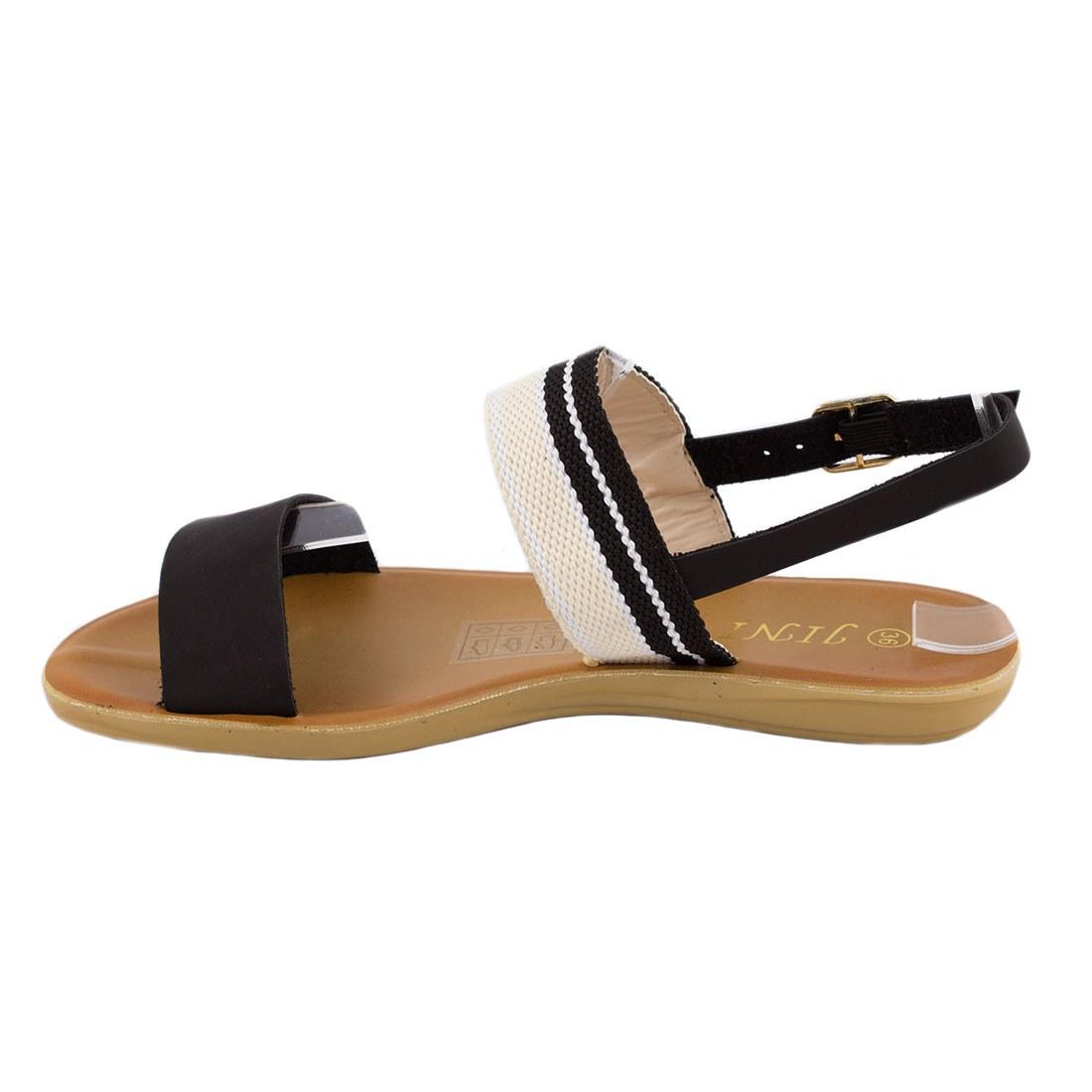 Sandale dama cu barete WS-20184-NEGRU