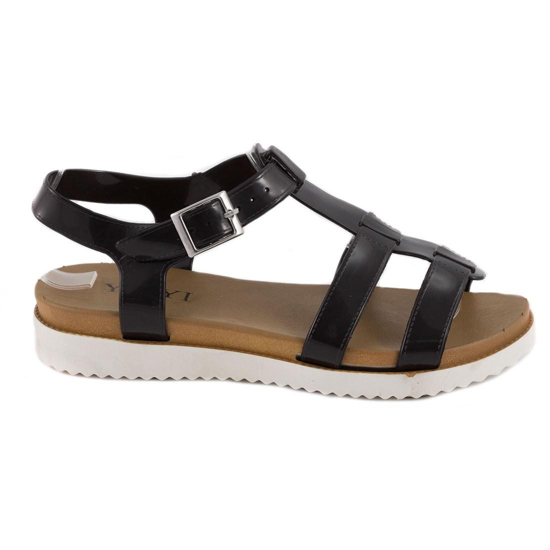 Sandale de dama din cauciuc 668-NEGRU