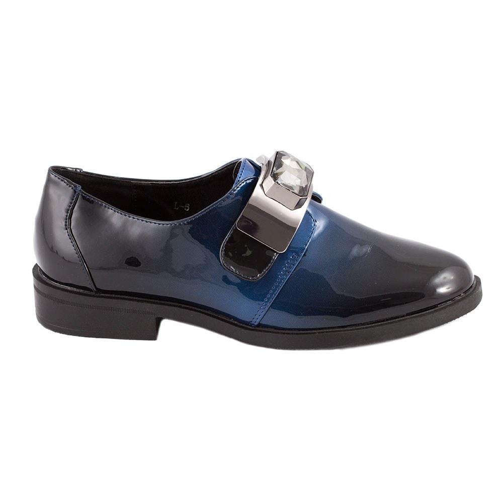 Pantofi dama casual lacuiti L-6-DK. BLUE