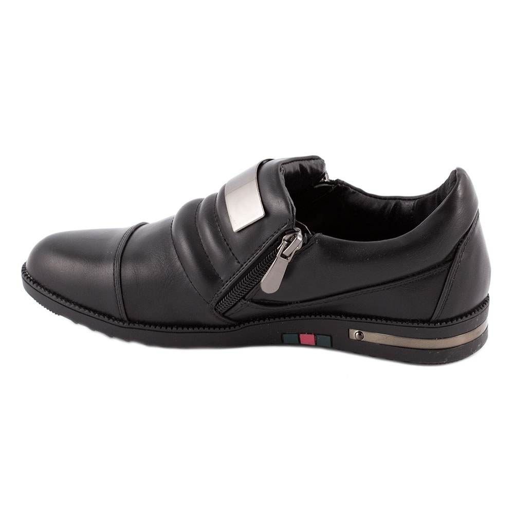 Sneakers dama cu fermoare laterale 6700-1-NEGRU