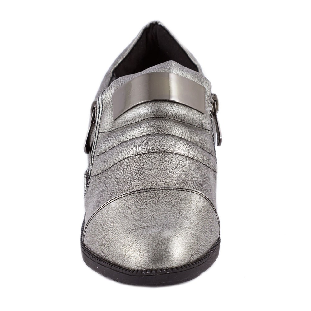 Sneakers dama cu fermoare laterale 6700-2-L.GREY