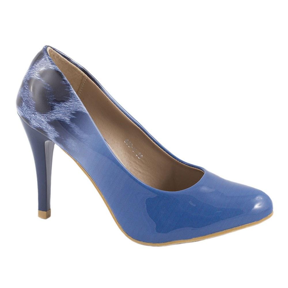 Pantofi de dama cu toc 606-1-BLUE