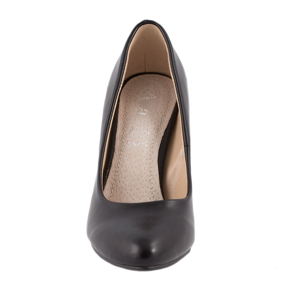 Pantofi de dama cu toc accesorizat 135-3-NEGRU