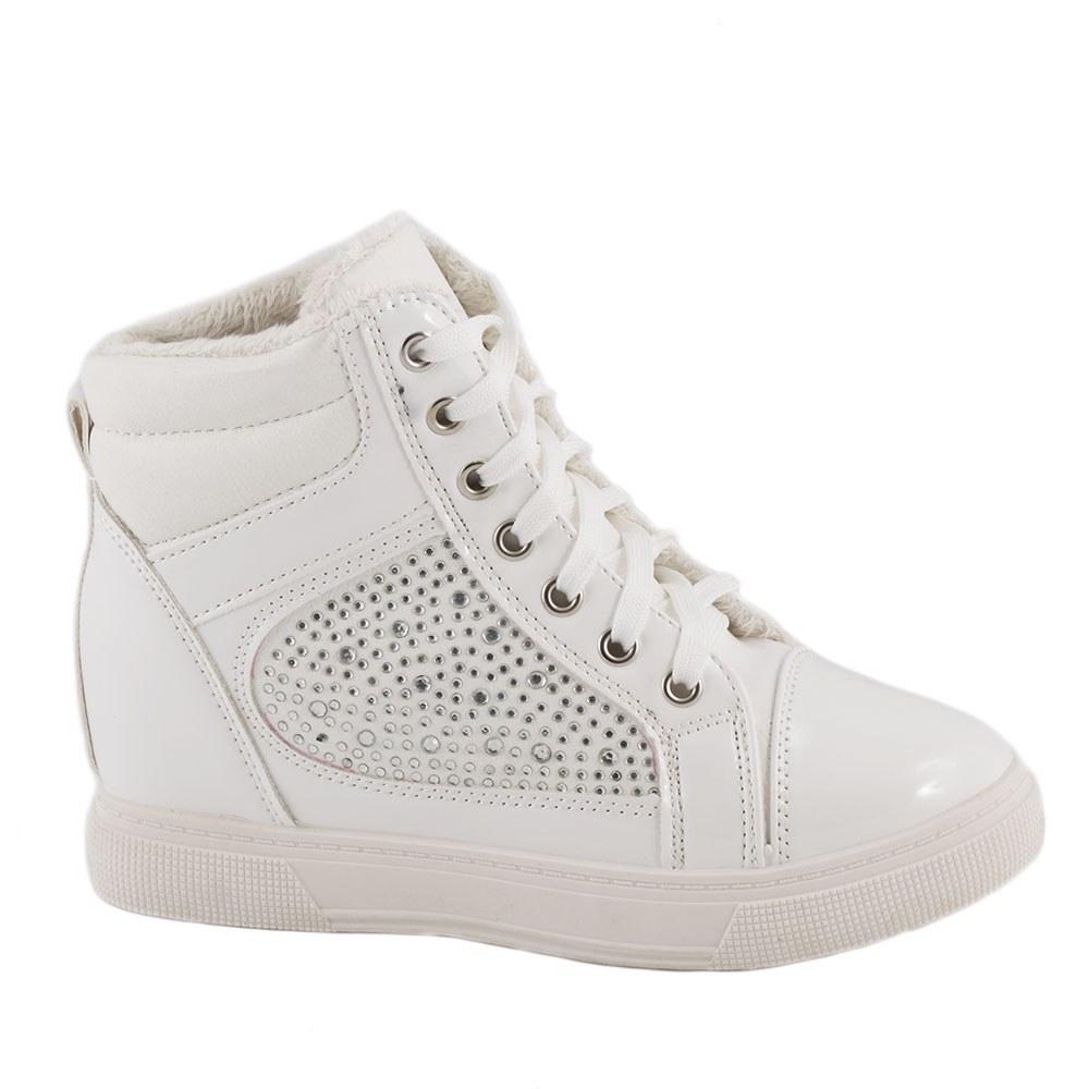 Sneakers dama cu talpa ortopedica ascunsa A-61-ALB