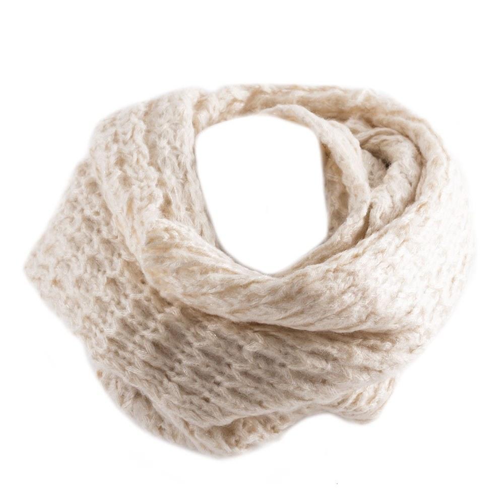 Fular dama tip burlan SY-2410-CREM