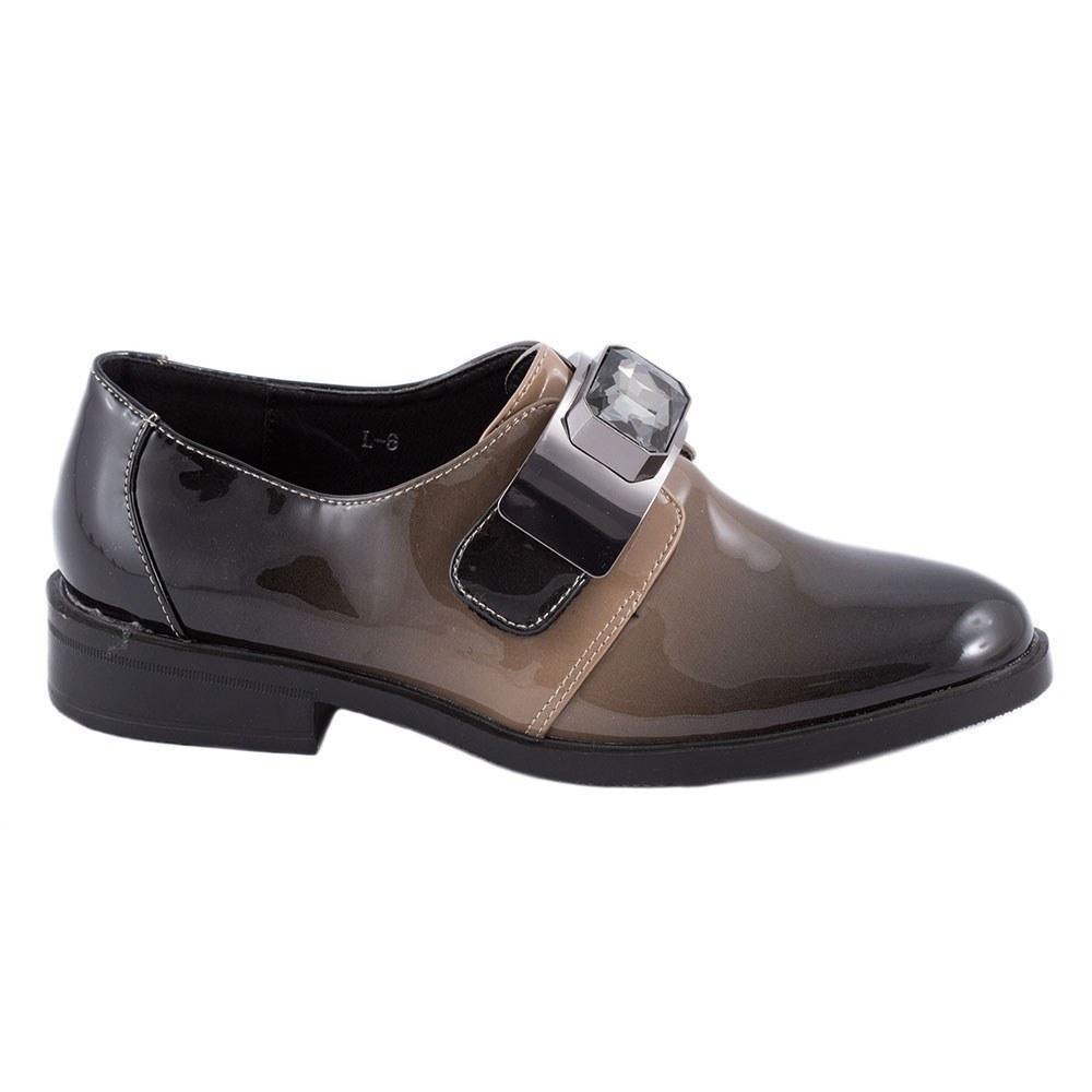 Pantofi dama casual lacuiti L-6-BEJ