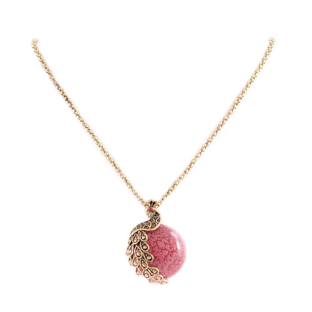 Colier dama cu piatra rosie CP-17101