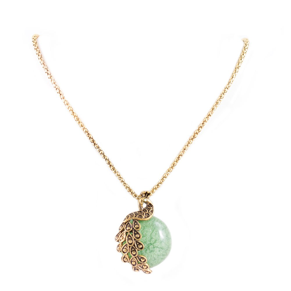 Colier dama cu piatra verde CP-17103