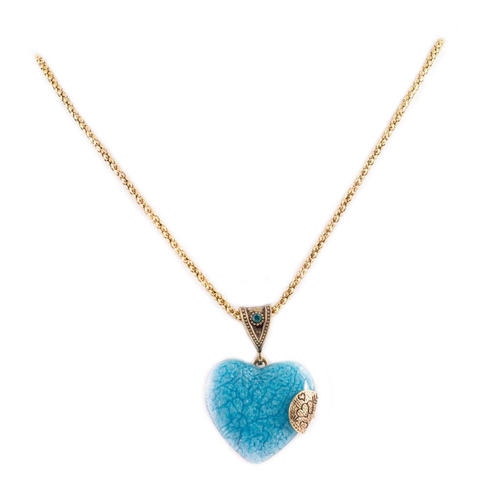 Colier dama cu piatra forma inima CP-17104
