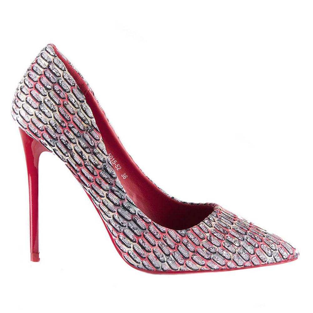 Pantofi dama eleganti 5015-52-ROSU