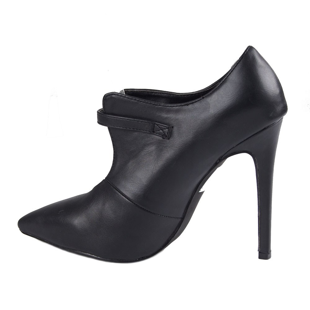 Pantofi dama cu toc subtire si bareta EK-54-NEGRU