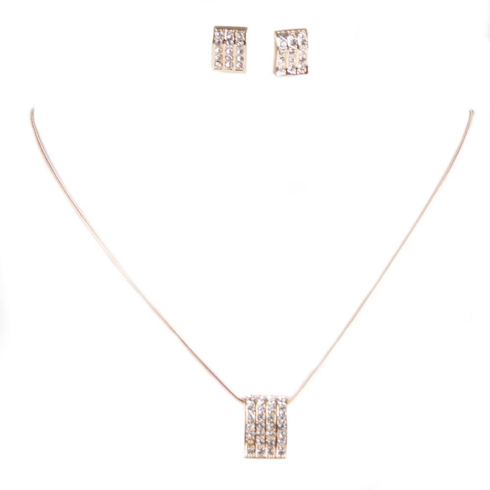 Set auriu colier cu cercei JEW-152