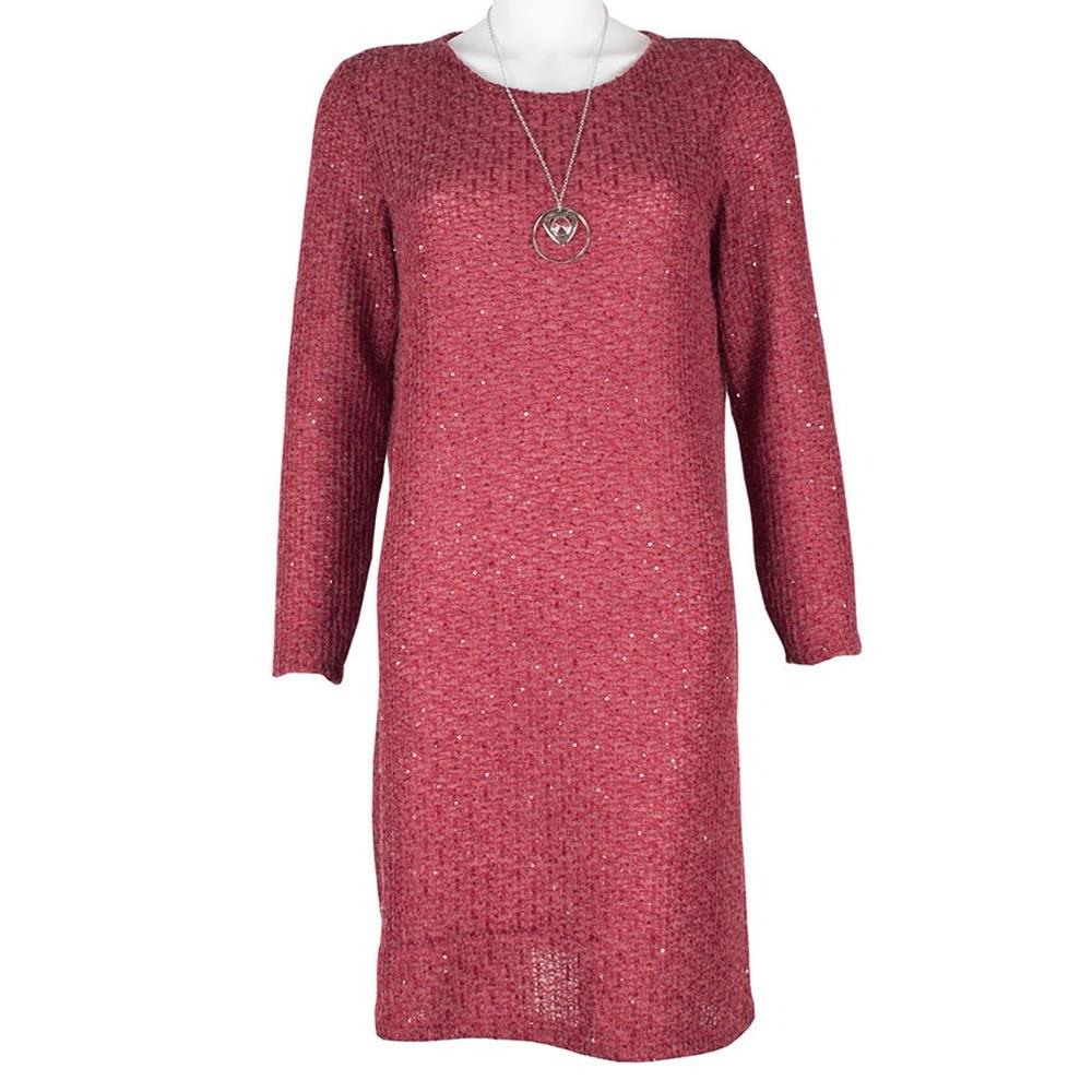 Rochie dama tricotata cu paiete 1740-B