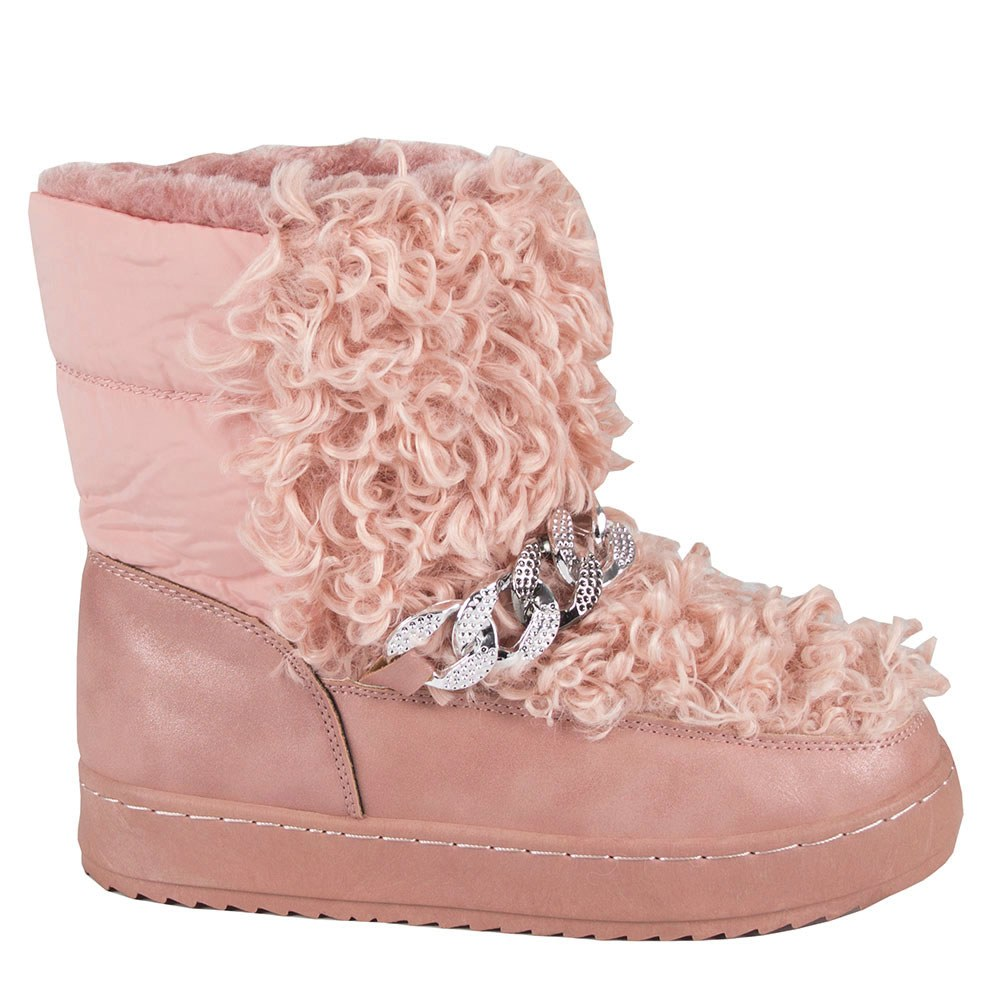 Cizme dama roz din fas imblanite 20-589-R
