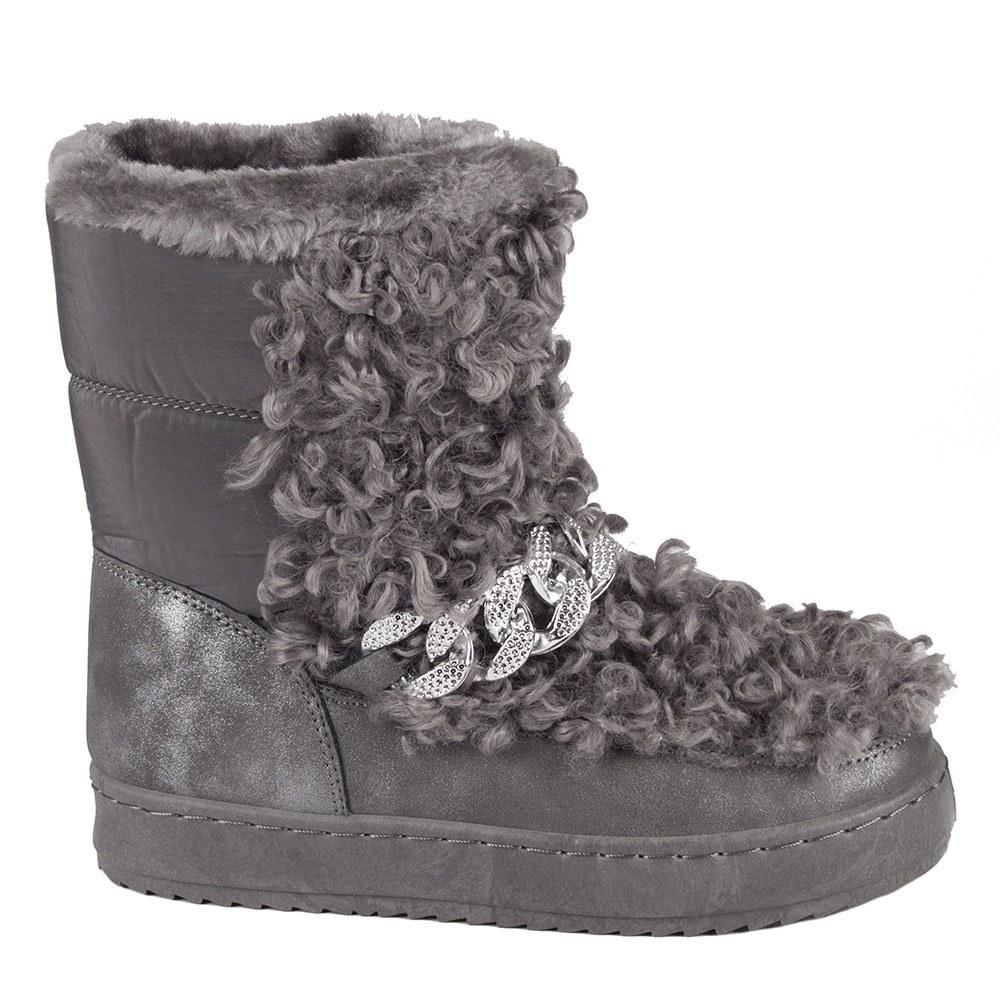 Cizme de dama gri de iarna 20-589-G