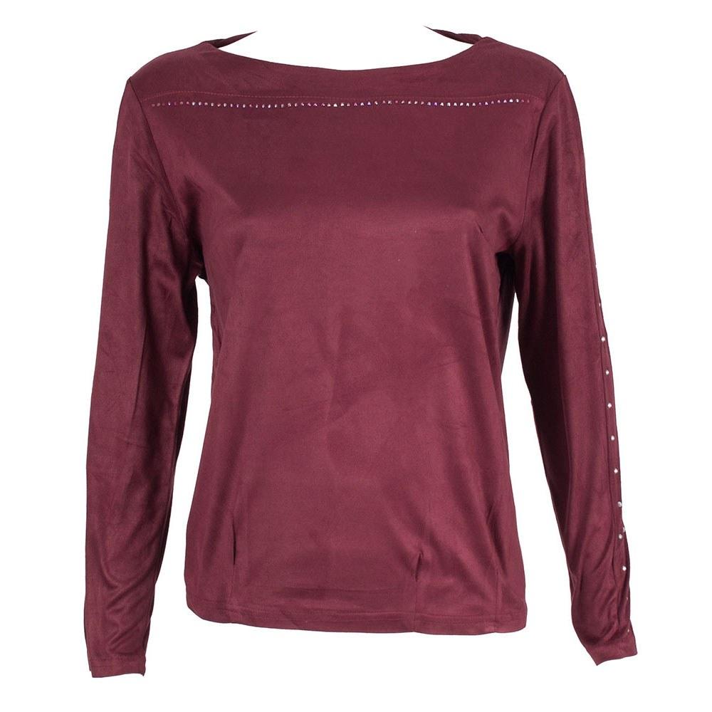 Bluza dama bordo cu maneca lunga GB-355-B