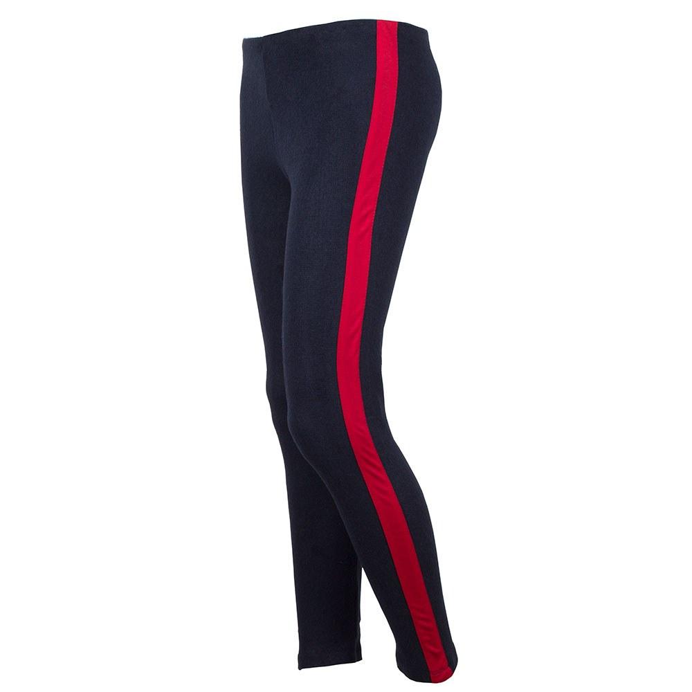 Pantaloni dama cu dunga laterala rosie CFP-0413