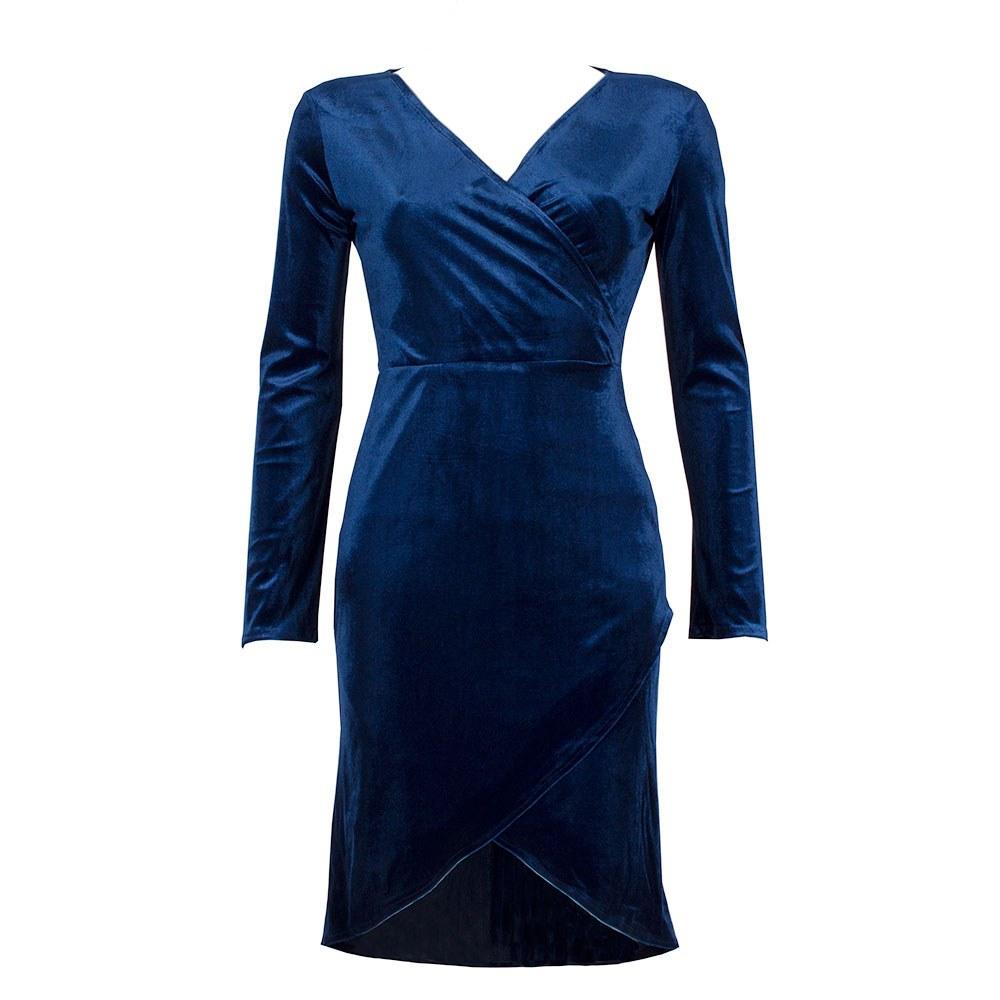 Rochie dama albastra petrecuta VM-2125-A