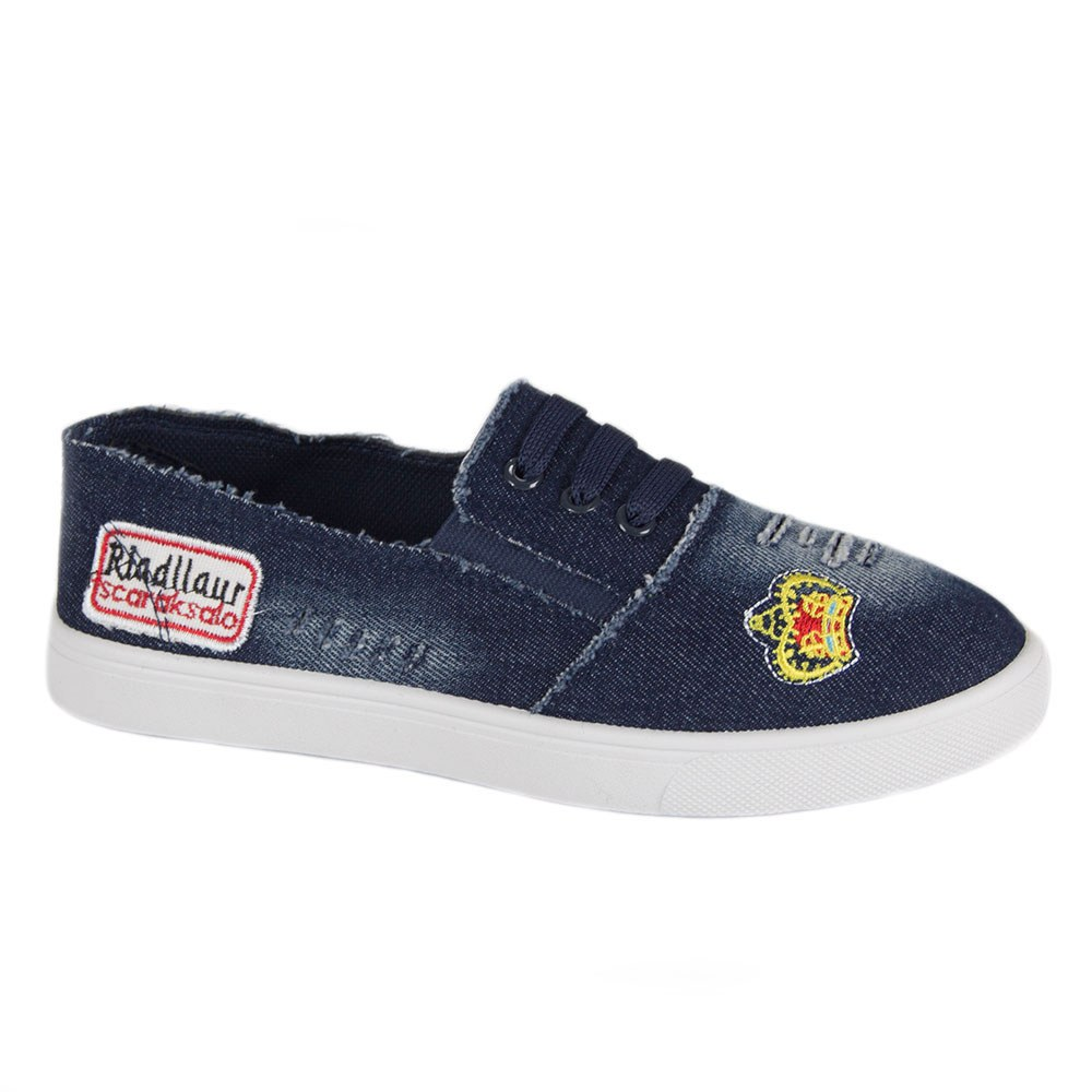 Espadrile dama din denim decorate cu siret 3035-N