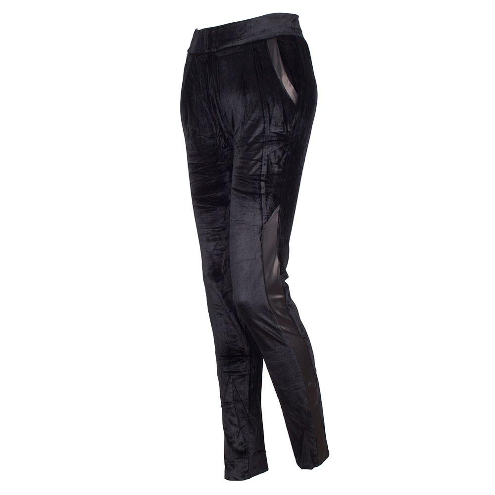 Pantaloni dama negri cu buzunare laterale F1-6-N