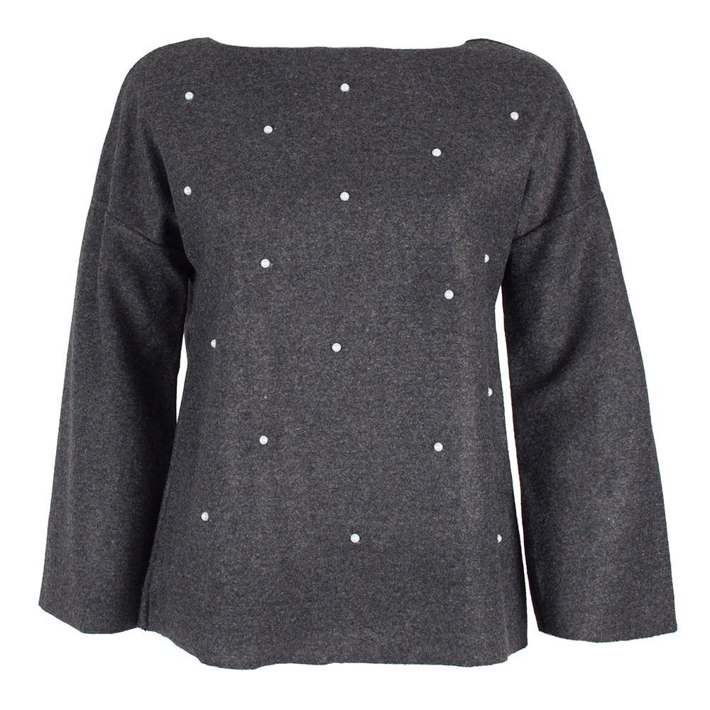 Bluza dama cu maneci clopot si margele aplicate ZQ-170-G