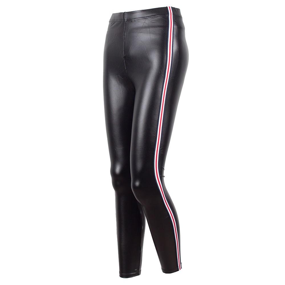 Pantaloni dama negri din vinil RC-570-N