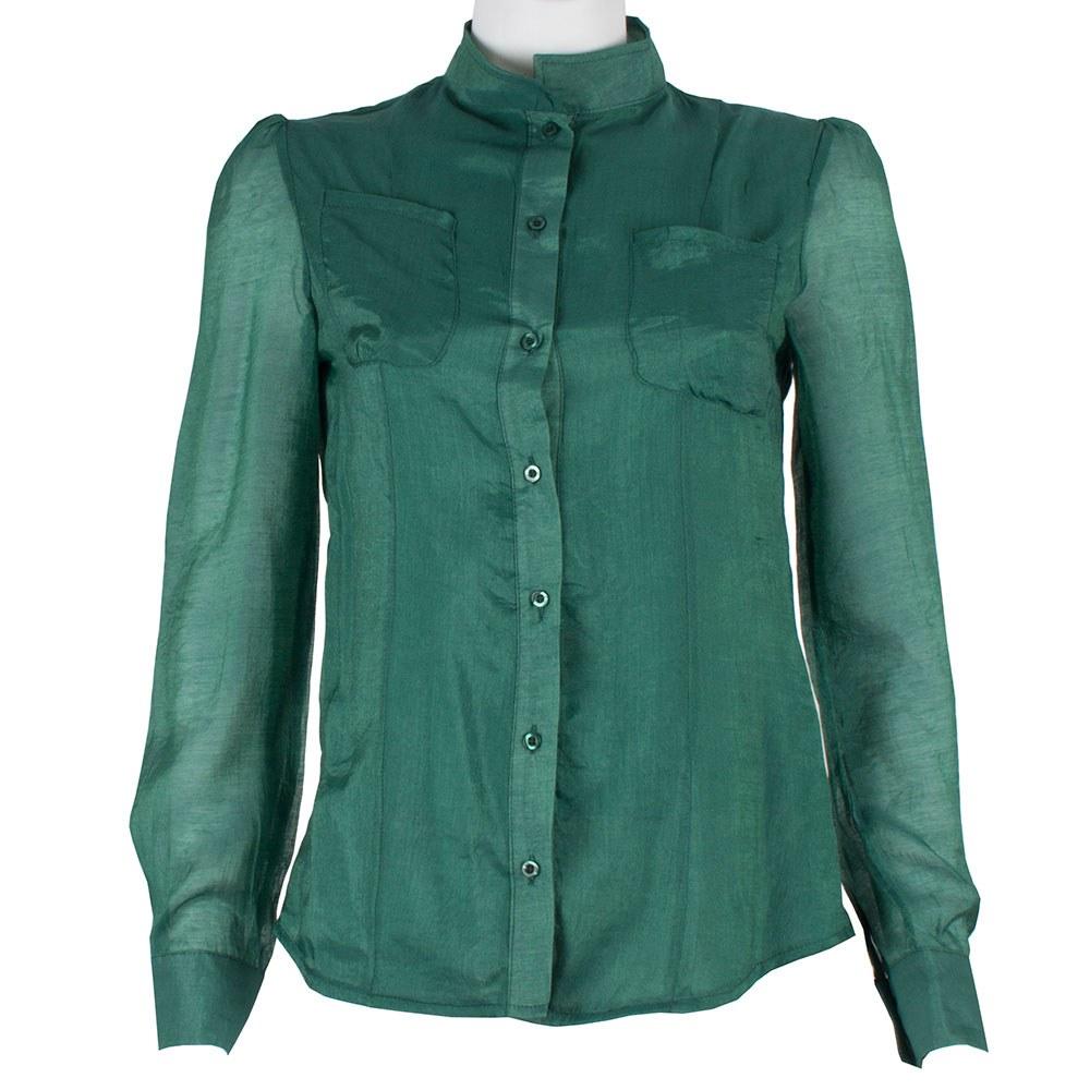 Camasa dama verde cu nasturi S-1162-V
