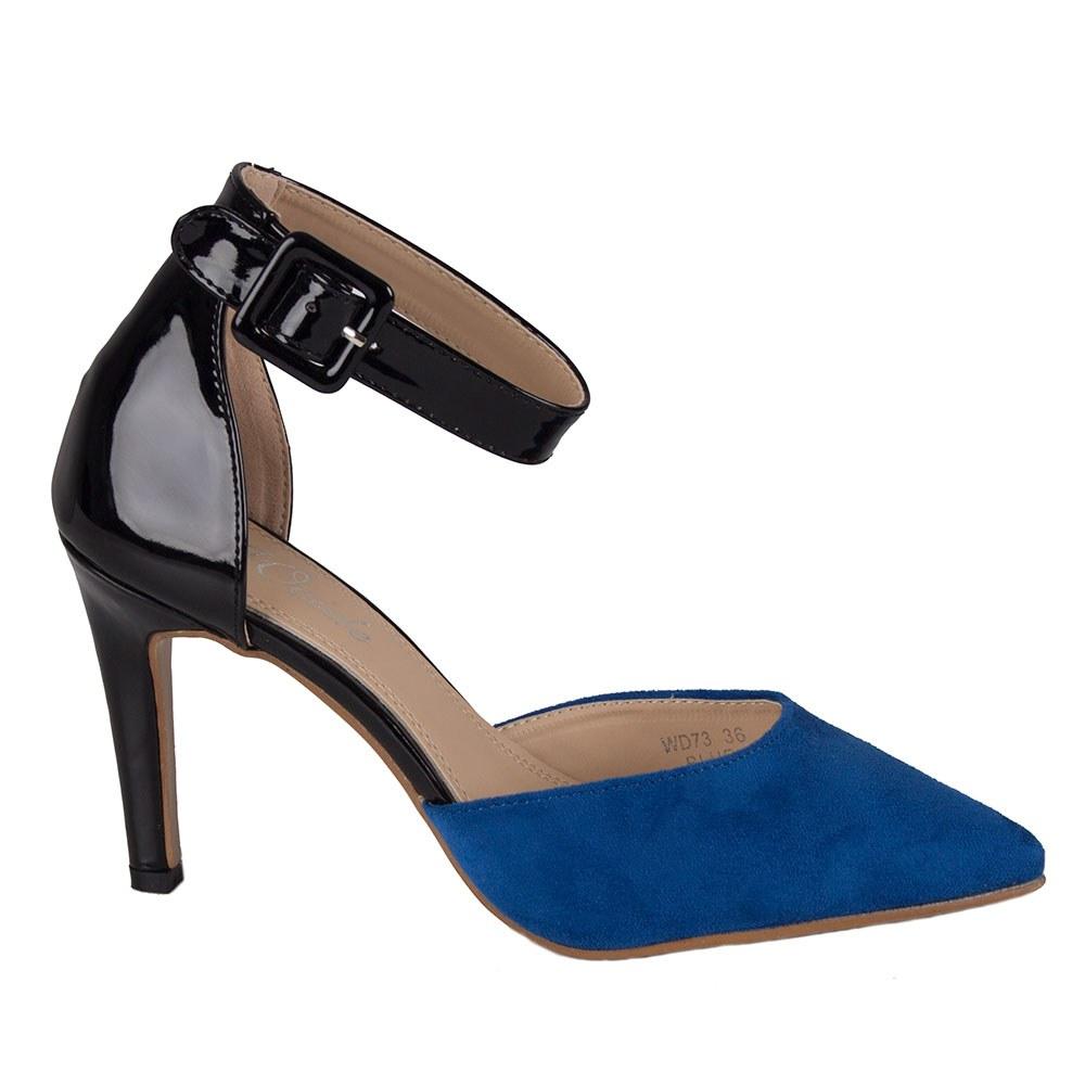 Pantofi dama cu bareta si varf ascutit WD73-B