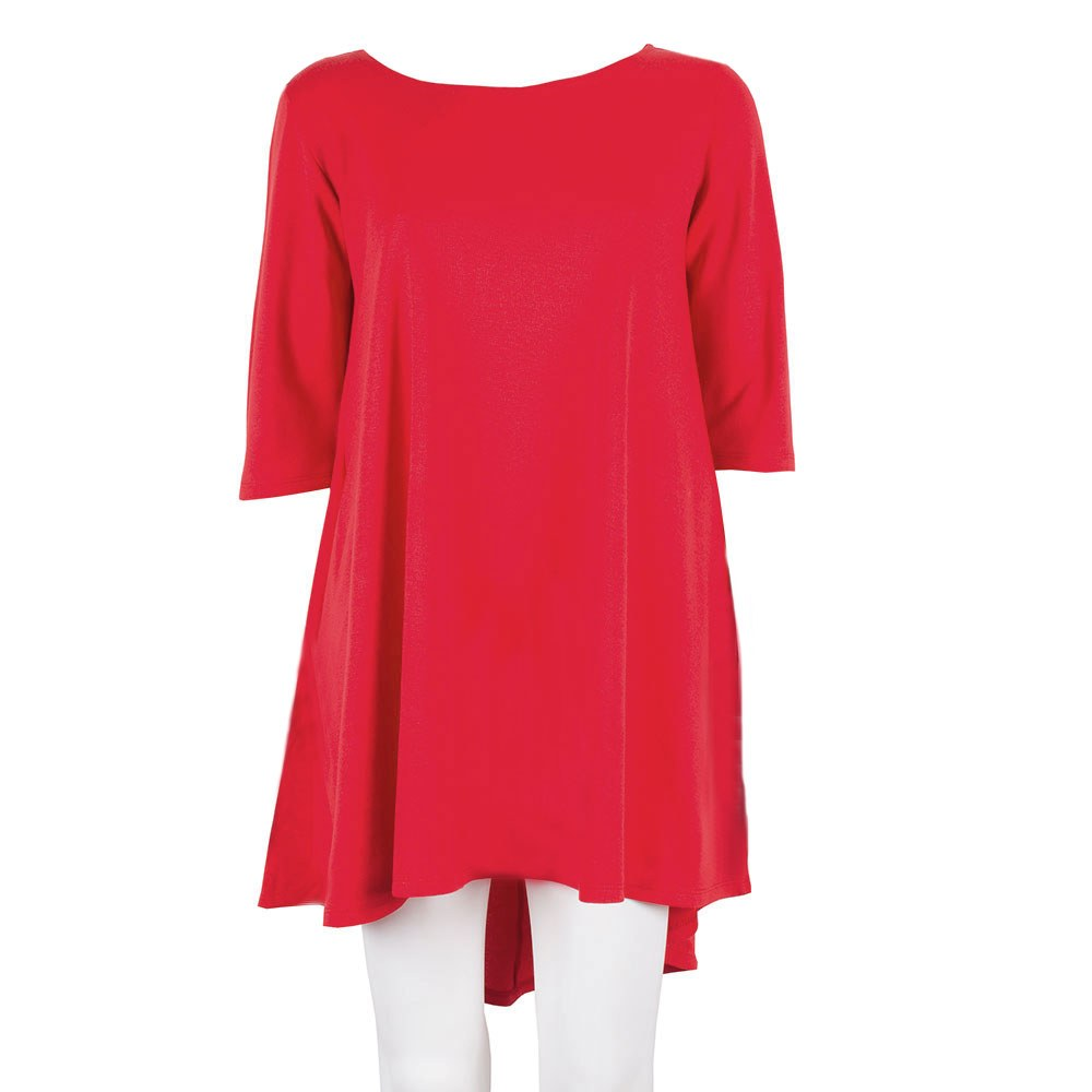 Rochie de dama rosie cu buzunare 9522-3-R